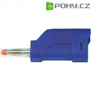 Lamelový konektor Ø 4 mm SCI Sicherheitsstecker; (28430c661), zástrčka rovná, modrá