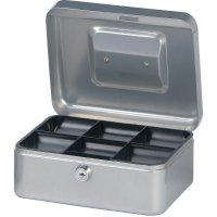 Kufřík na peníze Maul, 20 cm, stříbrná