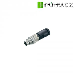 Kulatý konektor submin. Binder 712 (99-0405-00-03), 3pól., kab. zástrčka, 0,25 mm², IP67