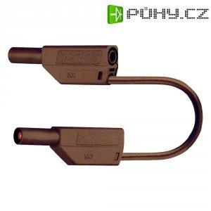 Měřicí kabel banánek 4 mm ⇔ banánek 4 mm MultiContact SLK425-E, 0,25 m, hnědá