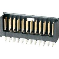 Kolíková lišta MOD II TE Connectivity 280387-1, přímá, 2,54 mm, černá