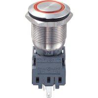 Tlačítko chráněné proti vandal 19 mm s kruhovým osvětlením