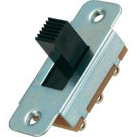 Posuvný přepínač MS-334, 2x zap/vyp/zap