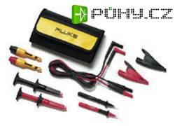 Sada měřicích kabelů banánek 4 mm ⇔ banánek 4 mm Fluke TLK281-1, 1,5 m, černá/červená