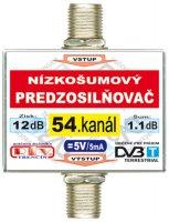 Anténní zesilovač DVB-T 54K 5V 12dB F-F