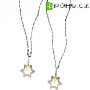 Vnitřní vánoční řetěz Polarlite, hvězdičky, 20 LED, 5,7 m, teplá bílá