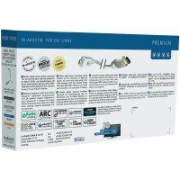 HDMI kabel s ether. vidlice micro HDMI typ D ⇒ vidlice HDMI, 0,75 m, bílý, Inakustik