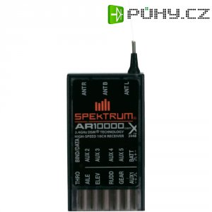 Přijímač Spektrum AR10000 DSM X, 2,4 GHz, 10 kanálů, JR