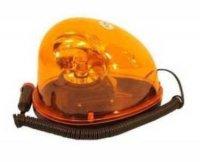 Oranžový výstražný magnetický maják 12V - ovalný
