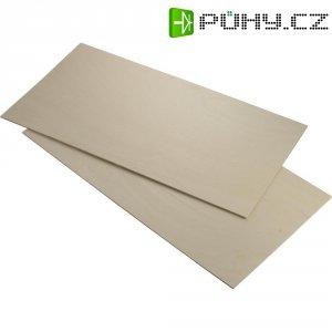 Překližka z břízového dřeva 250 x 500 x 6 mm, 2 ks