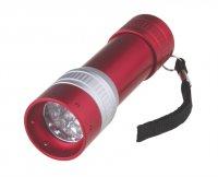 Svítilna LED ( 9x) červená, AL (3xAAA)