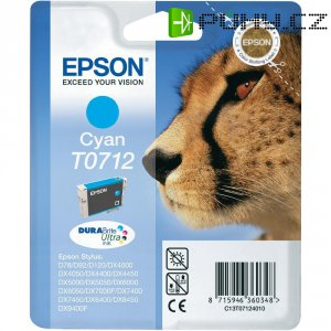 Cartridge do tiskárny Epson T0712, C13T07124011, cyanová
