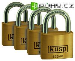 Visací zámky Kasp K12540D4 série 125, 40 mm, sada 4 ks