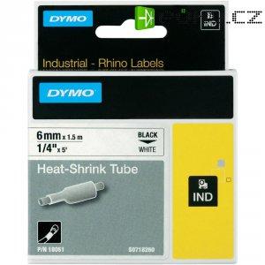 Páska do štítkovače DYMO 18051 (S0718260), 6 mm, IND RHINO, 1,5 m, černá/bílá