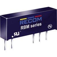 DC/DC měnič Recom RBM-1215D (10000176), vstup 12 V/DC, výstup ±15 V/DC, ±33 mA, 1 W