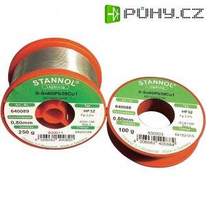Cínová pájka, S-Sn60Pb38Cu2, Ø 0,8 mm, 100 g, Stannol HF 32