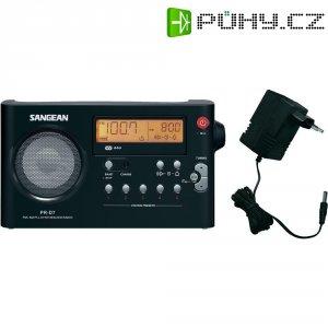 FM přenosné rádio Sangean PR-D7 PR-D7 SV, FM, černá