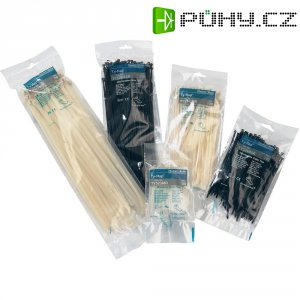 Stahovací pásky Ty-Rap, anti UV, ABB TY524MXR, s uzávěrem s ocelovým trnem, 100 ks, 100 ks