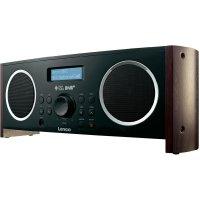 DAB+ rádio Lenco DR-02S, FM, černá/dřevo