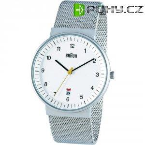 Ručičkové náramkové hodinky Braun Quartz, bílá