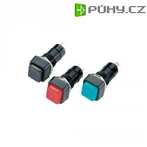 Stiskací tlačítko, 250 V/AC, 1 A, bez aretace, černá