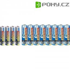 Sada akumulátorů NiMH Conrad energy 4 ks AAA 700 mAh, 8 ks AA 2400 mAh