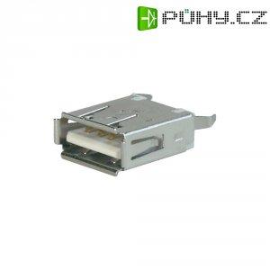 USB zásuvka vestavná do DPS 2.0 ASSMANN WSW A-USB A-TOP, rovná zásuvka Typ A