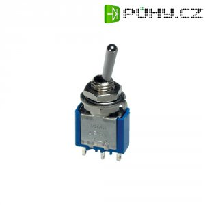 Páčkový spínač APEM 5236A / 52360003, 250 V/AC, 3 A, 1x zap/zap, 1 ks