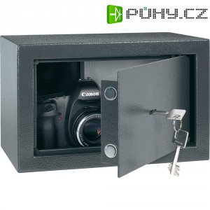 Ocelový sejf na klíč 20, 310x 200 x 200 mm, antracit