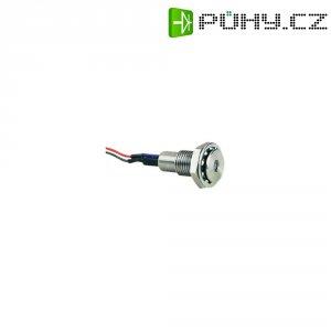 LED signálka Bulgin DX0508/GN/24V, IP67, zarovnaný profil, 24 V/DC, zelená
