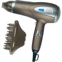 Fén na vlasy AEG HTD 5584, 2200 W, hnědá (metalíza), stříbrná