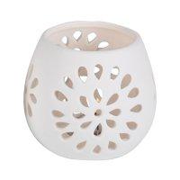 Svítidlo keramický LED svícen měnící barvy - vzor květina