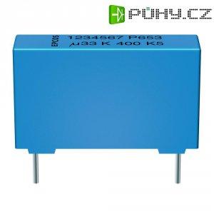Foliový kondenzátor MKP Epcos epoxidová pryskyřice B32654-A224-J, 0,22 µF, 1000 V, 5 %, 31,5 x 11 x 21 mm