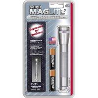 Kapesní svítilna Mag-Lite Mini 2 AA, M2A09H, 3 V, kryptonová, šedá/titan