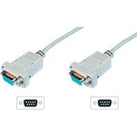 Sériový kabel D-SUB zásuvka ⇔ zásuvka, Digitus