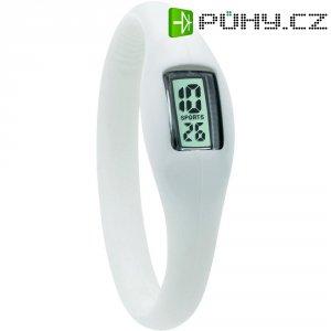 Silikonové náramkové hodinky TFA, bílá