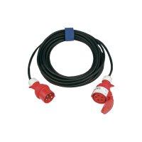 Prodlužovací CEE kabel s přepínačem fází Sirox, 25 m, 32 A, 5G 6 mm², černá