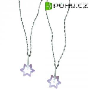 Vnitřní vánoční řetěz Polarlite, motiv hvězdiček, 20 LED, 10,7 m, studená bílá