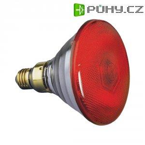Reflektorová žárovka PAR 38, E27, 80 W, typ Economy-flood, červená