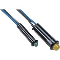 LED s integrovaným předřadným rezistorem, 5 V ZELENÁ 3 mm SNAP IN