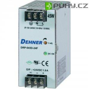 Napájecí zdroj na DIN lištu Dehner Elektronik DRP045D-24FTN, 1,88 A, 24 V/DC