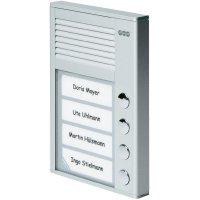 Domácí telefon Auerswald TFS-Dialog 204, 90637, 4 rodiny, stříbrná