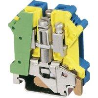 Instalační svorka ochranného vodiče Phoenix Contact UK 6 N-PE/N 3024753, 1 ks, zelenožlutá, modrá