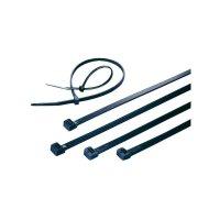 Stahovací pásky UV odolné KSS CVR250W, 250 x 4,8 mm, 100 ks, černá