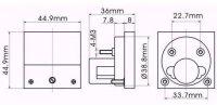91C4 panelový MP 3A= 45x45mm, s bočníkem