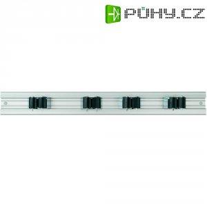 Lišta s držáky Prax 4-V25Vario, Ø 25 mm, 480 x 54 mm