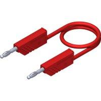 Měřicí kabel banánek 4 mm ⇔ banánek 4 mm SKS Hirschmann CO MLN 100/2,5, 1 m, červená