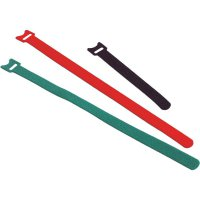 Stahovací páska na suchý zip Fastech 200 x 13 mm, červená
