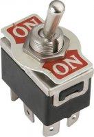 Přepínač páčkový ON-ON 2pol.250V/10A