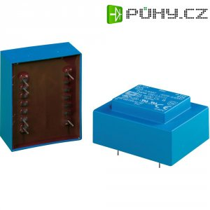 Transformátor do DPS Block EI 30, 230 V/2x 12 V, 2x 21 mA, 0,5 VA